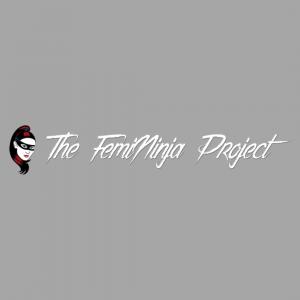 Femininja Logo on gray background